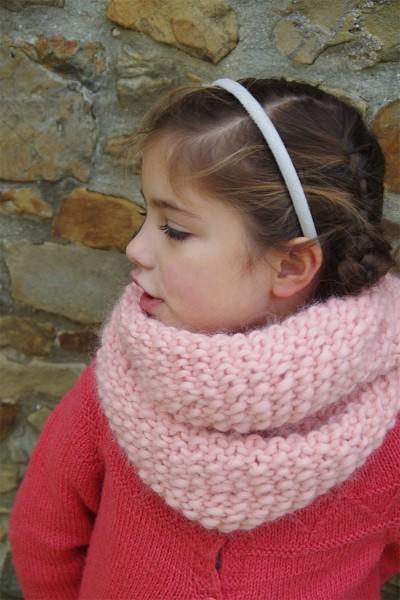 tuto snood tricot enfant