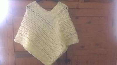 tuto tricot poncho femme