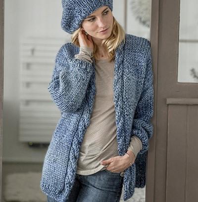 veste tricot femme